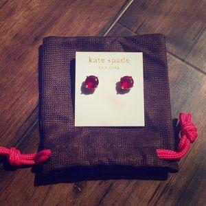Kate Spade red gumdrop studs